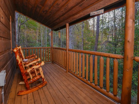 Pigeon Forge - The Looney Bin - Deck View