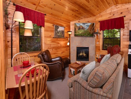 Pigeon Forge Cabin- In Green Pastures – Living Room