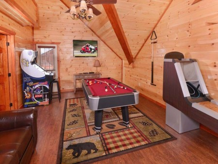 pigeon forge - leconte bear plunge - game room