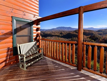 Pigeon Forge Cabin- Mt. LeConte Views Lodge – Deck