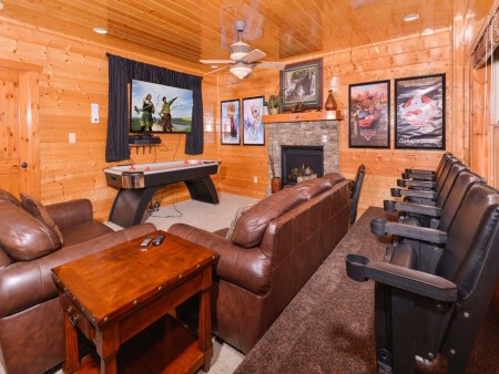Pigeon Forge Cabin- Mt. LeConte Views Lodge –  Theater Room