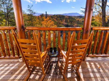 Pigeon Forge Cabin- Oh Yea –  Rocking Chair View