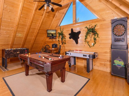 Pigeon Forge Cabin- Oh Yea – Game Room