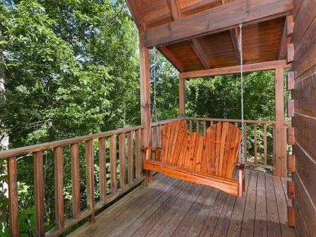 Pigeon Forge - A Smoky Mountain Rose - Deck Swing
