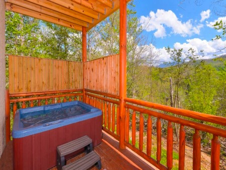 pigeon forge cabin – big bear plunge – view