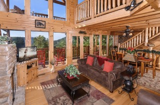 Pigeon Forge - Bearway to Heaven - Living Room