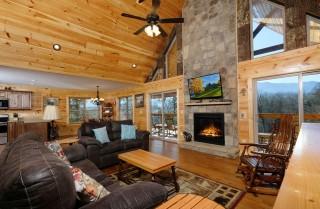 gatlinburg - potter's place - living room