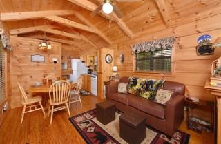 Gatlinburg Cabin - Woodland Cabin - Living Room