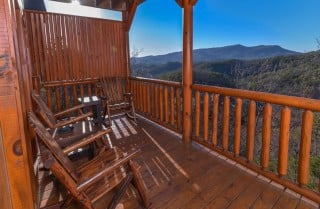 Pigeon Forge Cabin- It's All Good – Deck View