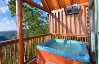 pigeon forge cabin – black bear ridge mountain views - hot tub