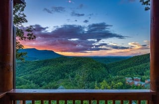 pigeon forge cabin – black bear ridge mountain views - view