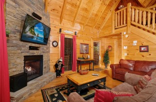 pigeon forge cabin – a bear creek crib – living room