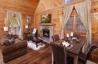 pigeon forge cabin - a secret romance - living room