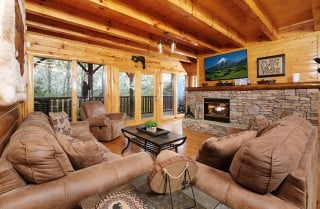 Pigeon Forge - A View to a Dream - Living Room