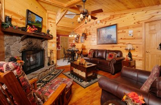 pigeon forge cabin – bear end – living room