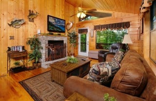 Pigeon Forge Cabin - Bear Essentials - Living Room