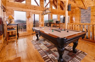 pigeon forge cabin – deer leap – game room