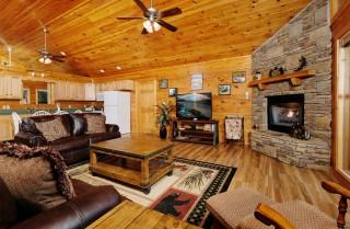 pigeon forge - dogwood acres - living room