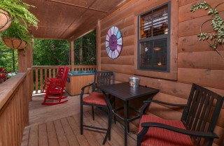 pigeon forge cabin – goodness and mercy – view