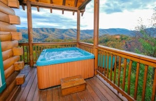 pigeon forge cabin – high-bear-nation – exterior fall