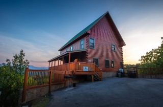 pigeon forge cabin – mt leconte views lodge – exterior