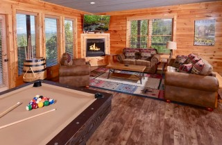 Pigeon Forge Cabin - Panoramic Paradise - Rec Room
