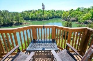 Pigeon Forge - Smoky Mountain Lake Retreat - Deck View