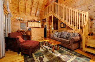 Pigeon Forge - Treetops at Wears Valley - Living Room
