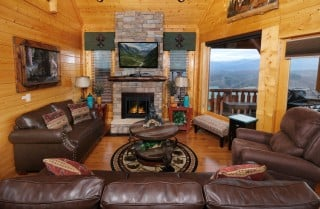 Pigeon Forge - Viewtopia - Living Room