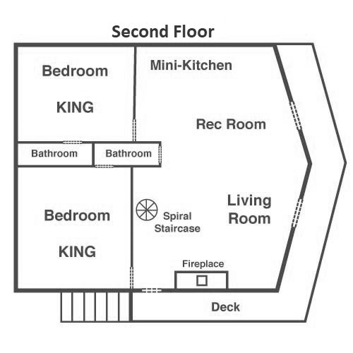 Bearfoot Lodge - Second Floor
