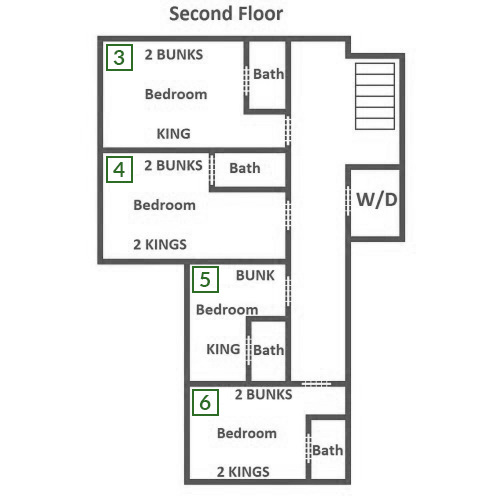 Crestview Lodge - Second Floor