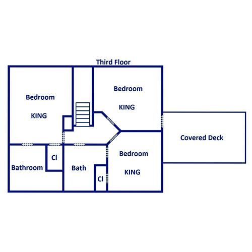 Keaton's Star Spangled Cabin - Third Floor