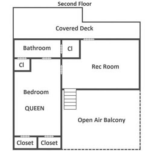 Little Bear Cabin - Second Floor