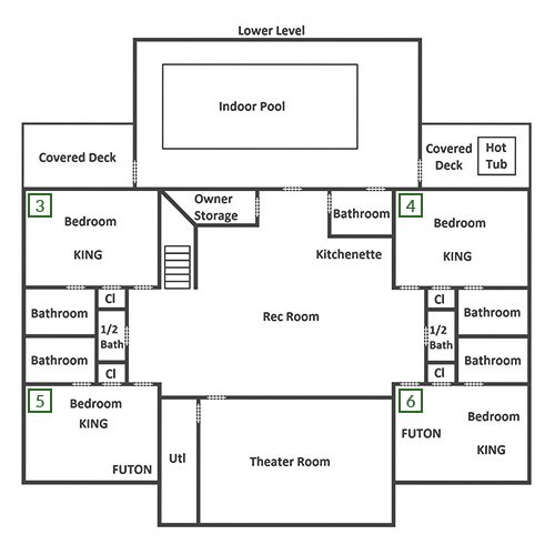 Luxury Lodge - Lower Level