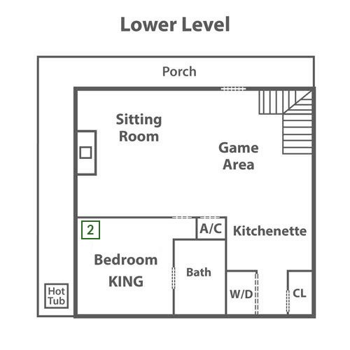 Mt. LeConte Views Lodge - Lower Level