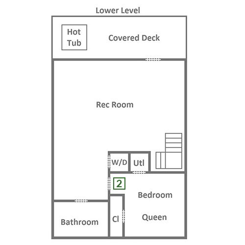 Queen's Log Cabin - Lower Level