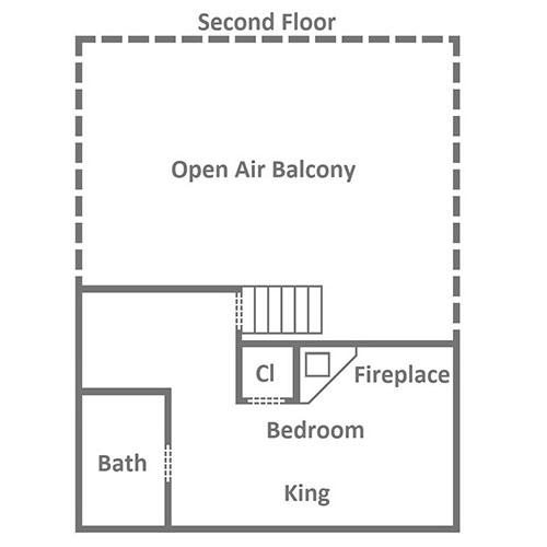 Queen's Log Cabin - Second Floor