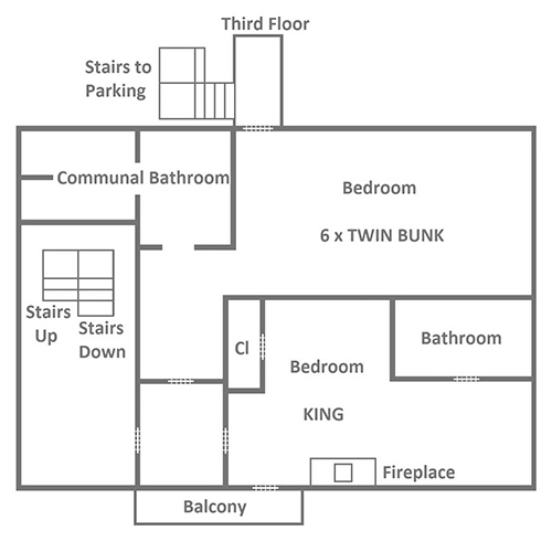 Red Oak Lodge - Third Floor