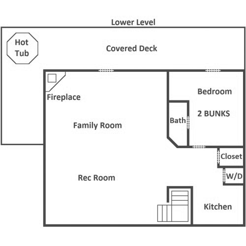 The Deck House - Lower Level