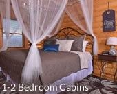 1-2 Bedroom Cabins in Smoky Mountains