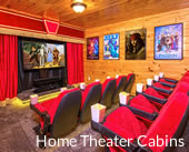 Cabins with Home Theaters in Gatlinburg